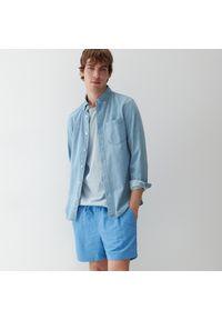 Reserved - Szorty plażowe z recyklingowanej tkaniny - Niebieski. Kolor: niebieski. Materiał: tkanina