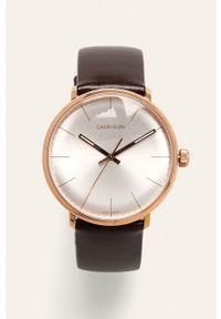 Brązowy zegarek Calvin Klein
