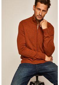 Brązowy sweter rozpinany medicine na co dzień, casualowy
