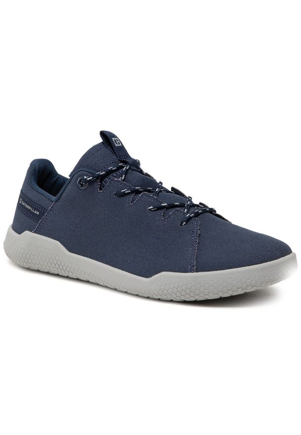CATerpillar - Sneakersy CATERPILLAR - Hex X-Lace Canvas P724569 Dark Blue/Grey. Okazja: na co dzień. Kolor: niebieski. Materiał: materiał. Szerokość cholewki: normalna. Styl: klasyczny, sportowy, elegancki, casual