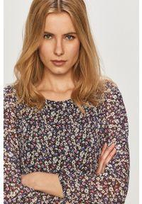 Haily's - Sukienka. Kolor: fioletowy. Materiał: tkanina. Długość rękawa: długi rękaw. Typ sukienki: rozkloszowane