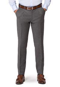 Szare spodnie Lancerto z podwyższonym stanem, vintage, długie