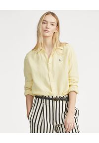 Żółta koszula Ralph Lauren długa, klasyczna
