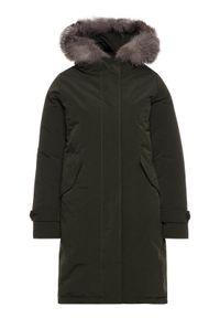Zielona kurtka zimowa Hetrego