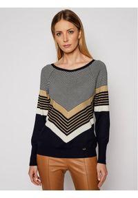 Niebieski sweter klasyczny Luisa Spagnoli