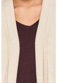 Beżowy sweter rozpinany Answear Lab na co dzień, wakacyjny, długi
