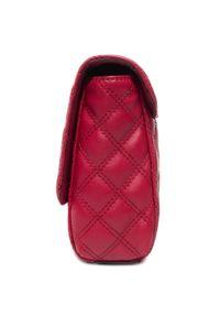 Czerwona torebka klasyczna Guess zdobiona, z aplikacjami