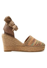 Brązowe sandały Vidorreta na co dzień, na obcasie, na średnim obcasie