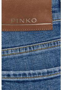Pinko - Jeansy Sabrina. Kolor: niebieski