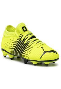Puma - Buty PUMA - Future Z 4.1 FG/AG Jr 106400 01 Yellow Alert/Black/White. Kolor: żółty. Materiał: skóra ekologiczna, materiał