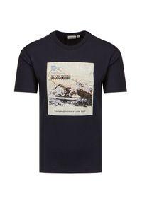 Napapijri - T-shirt NAPAPIJRI SIRUS. Materiał: bawełna. Wzór: nadruk