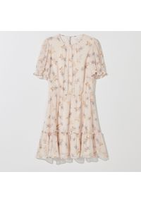 Mohito - Szyfonowa sukienka z falbaną - Wielobarwny. Materiał: szyfon