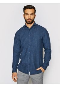 Baldessarini Koszula Henry B3 10000/000/3030 Granatowy Tailored Fit. Kolor: niebieski