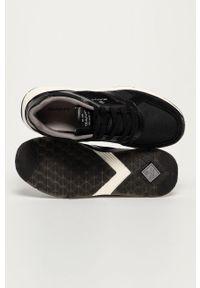 Czarne sneakersy GANT z okrągłym noskiem, na sznurówki