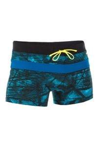 NABAIJI - Bokserki Pływackie 100 Pool Tex Męskie. Kolor: turkusowy, czarny, niebieski, wielokolorowy. Materiał: poliamid, materiał, poliester