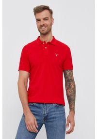 GANT - Gant - T-shirt/polo 2201. Typ kołnierza: polo. Kolor: czerwony. Długość: krótkie