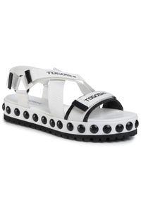 Białe sandały Togoshi