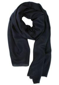 Niebieski szalik Teer na jesień, elegancki, na spacer