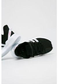 Czarne buty sportowe adidas Originals na sznurówki, z nadrukiem, do biegania