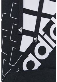 Adidas - adidas - Bluza. Okazja: na co dzień. Kolor: czarny. Materiał: bawełna. Wzór: nadruk. Styl: casual