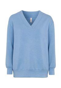 Soyaconcept Wyjątkowo miękka bluza dresowa Banu niebieski female niebieski S (38). Typ kołnierza: dekolt w serek. Kolor: niebieski. Materiał: dresówka