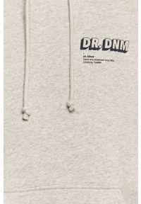 Szara bluza nierozpinana Dr. Denim casualowa, z kapturem, na co dzień