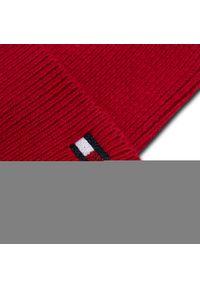 Czerwona czapka zimowa TOMMY HILFIGER