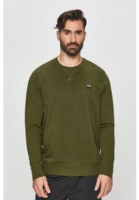 Zielona bluza nierozpinana Wrangler na co dzień, casualowa, bez kaptura