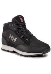 Helly Hansen - Trekkingi HELLY HANSEN - Torshov Hiker 11593-990 Black/New Light Grey. Kolor: czarny. Materiał: skóra, skóra ekologiczna, zamsz, materiał. Sport: turystyka piesza