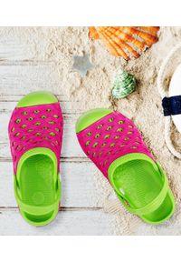 REALPAKS - Klapki dziecięce Realpaks SLD-07/2 Różowe. Okazja: na plażę. Kolor: różowy. Materiał: tworzywo sztuczne. Styl: młodzieżowy