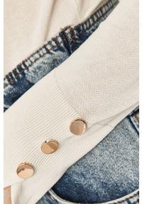 Biały sweter Answear Lab gładki, długi