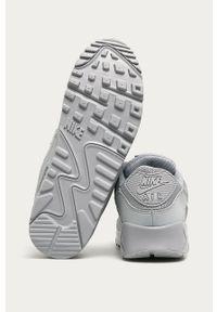 Szare sneakersy Nike z cholewką, z okrągłym noskiem, na sznurówki