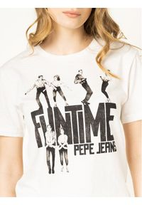 Pepe Jeans T-Shirt Cinamon PL504348 Beżowy Regular Fit. Kolor: beżowy