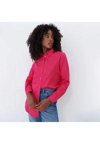 Mohito - Gładka koszula - Różowy. Kolor: różowy. Wzór: gładki