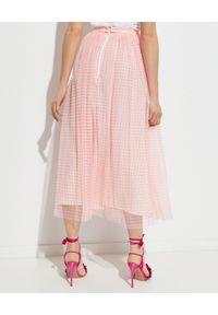 NEEDLE & THREAD - Spódnica Gingham. Kolor: wielokolorowy, różowy, fioletowy. Materiał: tiul. Wzór: nadruk, kratka