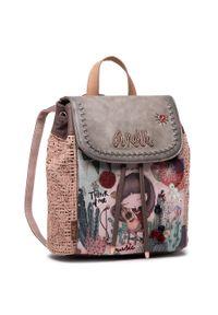 Anekke - Plecak ANEKKE - 32710-05-005 Kolorowy Różowy. Kolor: różowy. Materiał: skóra. Wzór: kolorowy. Styl: klasyczny