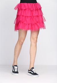 Różowa spódnica mini Born2be