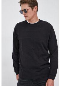GAP - Longsleeve bawełniany. Okazja: na co dzień. Kolor: czarny. Materiał: bawełna. Długość rękawa: długi rękaw. Wzór: gładki. Styl: casual