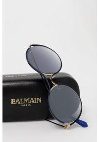 Balmain - Okulary przeciwsłoneczne BL2520B.03. Kształt: okrągłe. Kolor: niebieski
