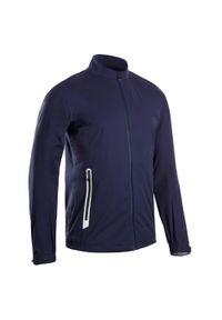 INESIS - Kurtka przeciwdeszczowa do golfa RW500 męska. Typ kołnierza: golf. Kolor: niebieski. Materiał: poliester, materiał. Sport: golf