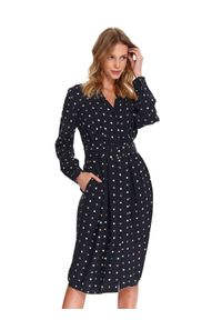 Niebieska sukienka TOP SECRET na wiosnę, elegancka