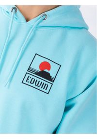 Edwin Bluza Sunset On Mt Fuji I025851 TG0971P AGB67 Niebieski Regular Fit. Kolor: niebieski