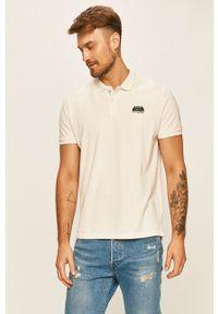 Biała koszulka polo Pepe Jeans z aplikacjami, na co dzień, polo, krótka