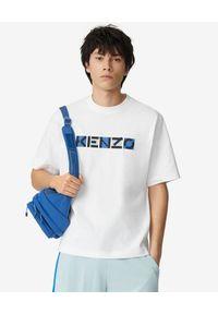 Kenzo - KENZO - Biała koszulka o luźnym kroju Sport. Kolor: biały. Materiał: bawełna. Styl: sportowy