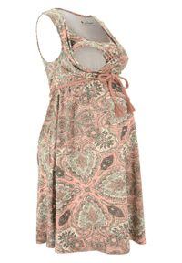 Sukienka ciążowa i do karmienia LENZING™ ECOVERO™ bonprix czerwony paisley. Kolekcja: moda ciążowa. Kolor: czerwony. Wzór: paisley