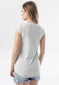 Born2be - Szary T-shirt Noelori. Kolor: szary