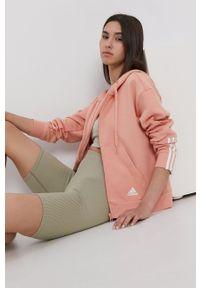 Adidas - adidas - Bluza. Kolor: różowy. Materiał: bawełna