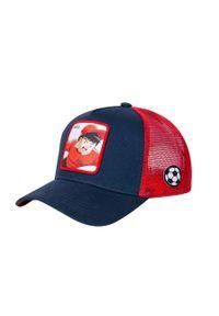 Niebieska czapka z daszkiem CapsLab z aplikacjami