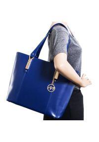 Torba na laptopa MCKLEIN Savarna 15 cali Granatowy. Kolor: niebieski. Materiał: skóra. Wzór: aplikacja, paisley. Styl: biznesowy, elegancki #5