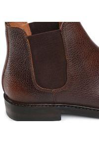 Brązowe buty zimowe Gino Rossi klasyczne, z cholewką
